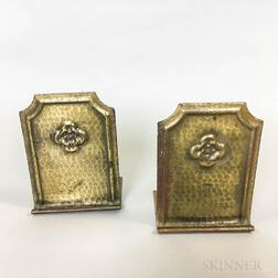 Pair of Roycroft Hand-hammered Bronze Bookends
