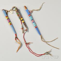 Three Plains Beaded Hide Awl Cases