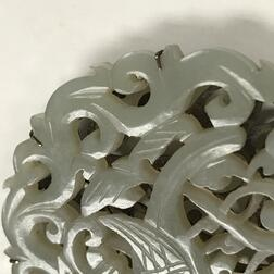 Reticulated Nephrite Jade Belt Plaque