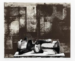 Henry Moore (British, 1898-1986)      Reclining Figure Architectural Background IV
