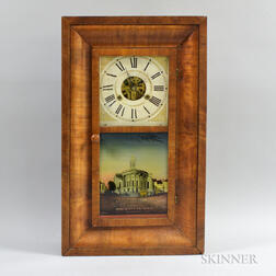 Eli Terry & Son Mahogany Veneer Ogee Shelf Clock
