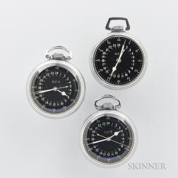 """Two Hamilton """"4992B"""" Navigational Watches, and a """"4992B"""" Case and Dial"""