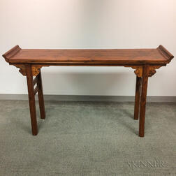 Elmwood Recessed-leg Table