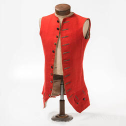 Scarlet Waistcoat Identified to Ebenezer Willis of Middleborough, Massachusetts