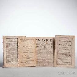 Religious Works, Sermons, Four Pamphlets.
