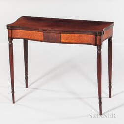 Inlaid Cherry Card Table