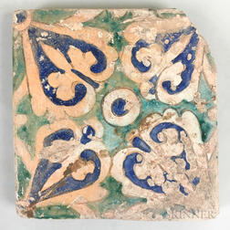 Green and Blue Glazed Tile