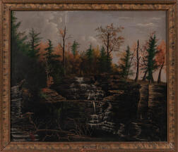 Attributed to James Hope (Vermont/New York, 1818-1892)      Waterfall