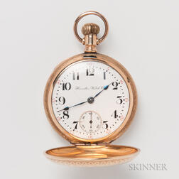 Hamilton Gold-filled Hunter-case Pocket Watch
