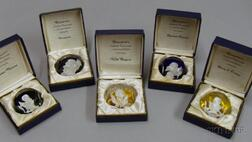 Five Baccarat Sulfide Paperweights