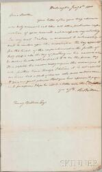Baldwin, Abraham (1754-1807) Autograph Letter Signed, 8 January 1804.