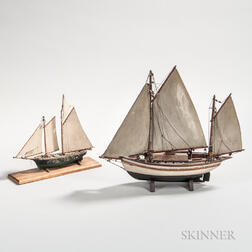 Two Small Sailboat Models