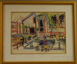 Dorothy H. Shurtleff (American, 20th Century)      Antiques, Cape Cod