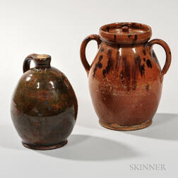 Gonic Jug and a New England Covered Jar