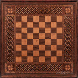 Marquetry Inlaid Game Board