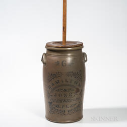 Six-gallon Stoneware Churn