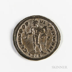 Roman Empire, Diocletian Silvered AE Follis