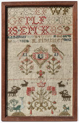 "Needlework Sampler ""M. Findlater,"""