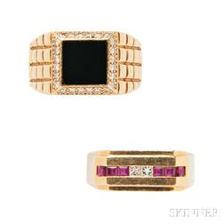 Two 18kt Gold Rings, Black, Starr & Frost