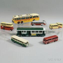 Seven Meccano Dinky Toys Die-cast Metal Vehicles