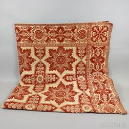 Two Red and White Coverlets