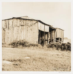 Walker Evans (American, 1903-1975)       Two Works Depicting Rural Buildings in Maine, Possibly Cranberry Island