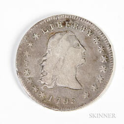 1795 Flowing Hair Dollar, B-5 BB-27 3 Leaves