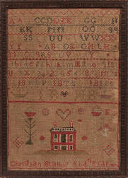 "Needlework Sampler ""Christian Blaikie,"""