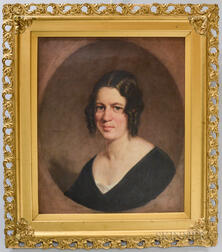 American School, 19th Century       Portrait of Woman