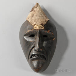 Cherokee Carved Wood Mask