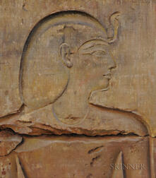 Joseph Lindon Smith (American, 1863-1950)      Painted Copy of an Egyptian Relief: A Prince