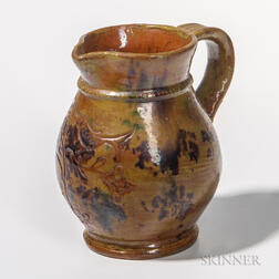 Slip-decorated Sgraffito Jug