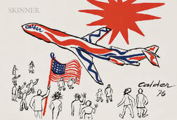 Alexander Calder (American, 1898-1976)      Flying Colors of the United States  /The Bicentennial Plane