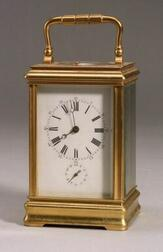 French Bronze Repeating Carriage Clock