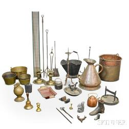 Large Group of Metal Domestic Items