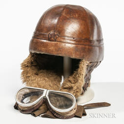 Imperial Japanese Winter Tanker Helmet and Goggles
