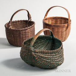 Three Splint Baskets