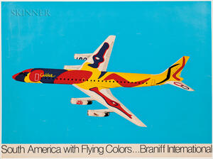 After Alexander Calder (American, 1898-1976)      South America with Flying Colors...Braniff International