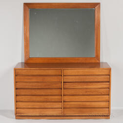 Sligh Limed Oak Chest of Drawers and Mirror