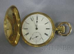 18kt Gold Hunting Case Pocket Watch, Breguet