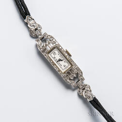 Art Deco Platinum and Diamond Lady's Wristwatch