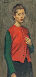 Raphael Soyer (American, 1899-1987)      Red Jacket