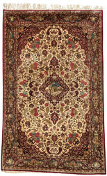 Pair of Silk Kashan Rugs