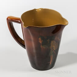 Anna M. Valentien for Rookwood Pottery Standard Glaze Three-spout Pitcher