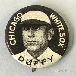1910-1912 Hugh Duffy Sweet Caporal Pin.     Estimate $100-200