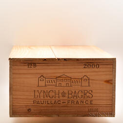 Chateau Lynch Bages 2000, 12 bottles (owc)