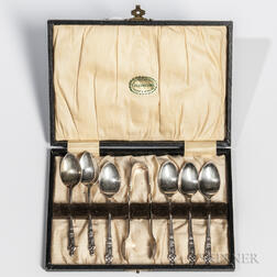 Cased Silver-plated Apostle Demitasse Set