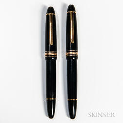 "Two Montblanc Meisterstuck ""146"" Fountain Pens"