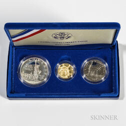 1986 Liberty Commemorative Three-coin Proof Set
