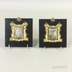 Two Beard Patentee Brass and Lacquered Daguerreotype Frames